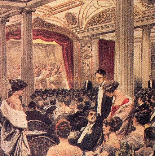 The Theatre on board the R.M.S. Aquitania - Courtesy Graeme Smith.