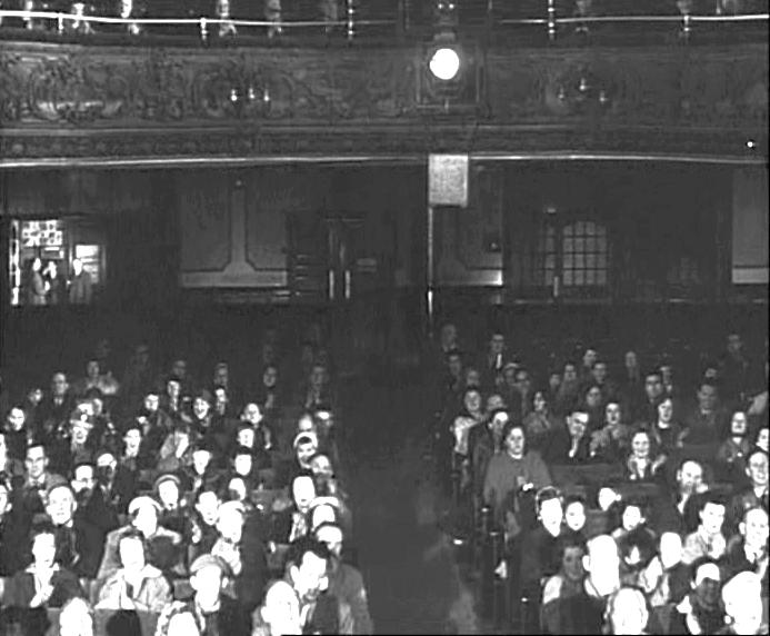 A Still from the Granada TV production of 'Man of the World' entitled 'The Mindreader' (first broadcast in November 1962) but shot at Collins' Music Hall prior to the 1958 fire.