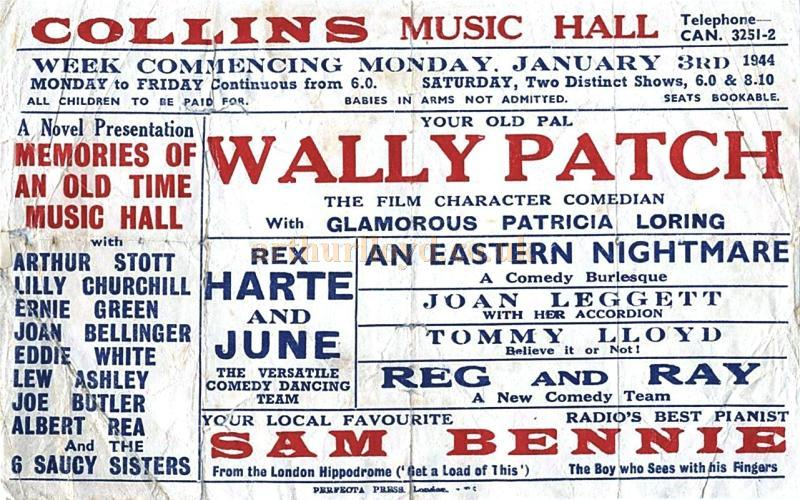 Collin's Music Hall Bill for the week commencing Monday January the 3rd 1944