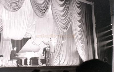 Billy Eckstine on stage at the Coventry Hippodrome on the 24th of May 1955 - Courtesy Allan Hailstone.