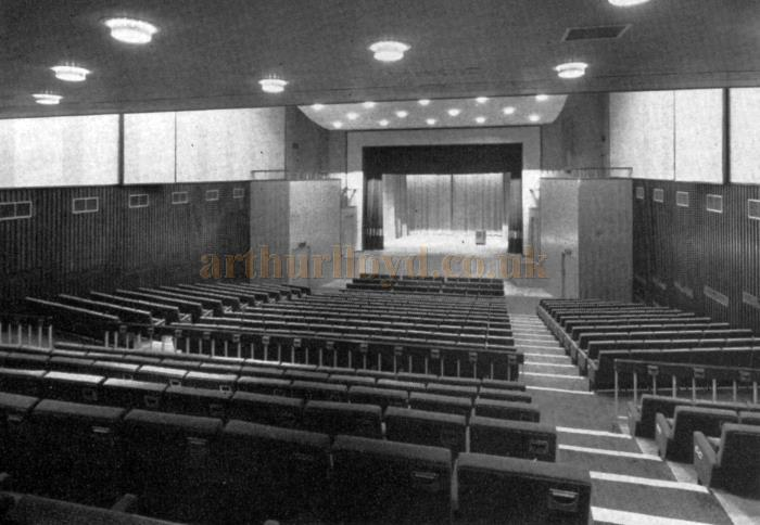 The attractive interior of Croydon's new chic playhouse, the Ashcroft Theatre, which Dame Peggy Ashcroft