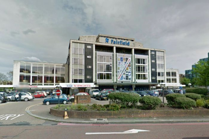 A Google StreetView Image of the Fairfield Halls, Croydon - Click to Interact