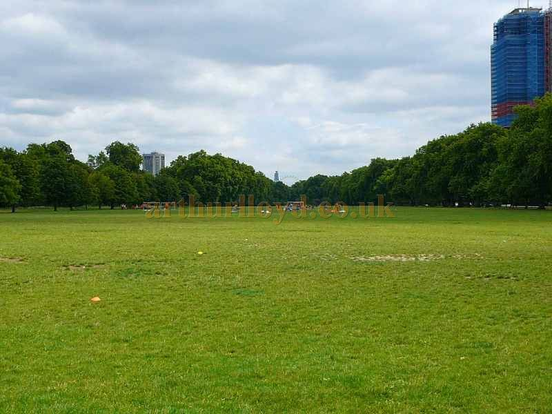 The site of the original location of the Crystal Palace in Hyde Park - Courtesy B.F. 2011.