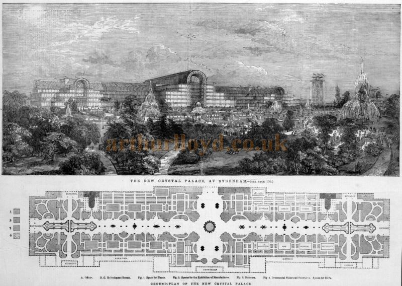 The New Crystal Palace at Sydenham - From the Illustrated London News 21st of August 1852