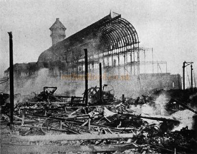 The Palace on the day after the fire in December, 1936