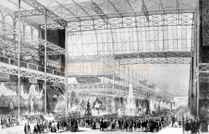The Opening of the Great Exhibition at the original Crystal Palace in Hyde Park in 1851 - From 'The Survey of London' by Walter Besant, 1903.