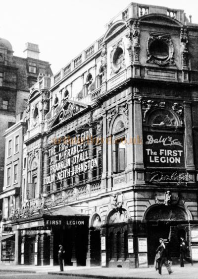 'Daly's Theatre during the run of 'The First Legion' in 1937 and shortly before the Theatre was demolished in September 1937 - From The Survey of London, Vol 33/34 St Anne Soho held at British History Online.