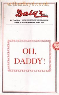 Oh Daddy! at Daly's Theatre - Courtesy Maria Andrew, Archivist at the Theatre Royal, Norwich.