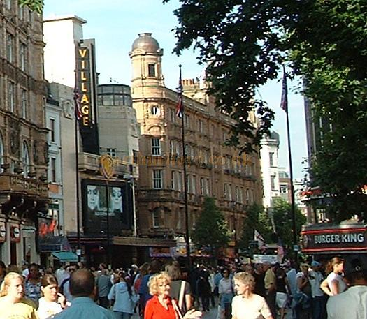 Detail of photograph taken in June 2003 showing the Warner Village, and the London Hippodrome. - Photo M.L.