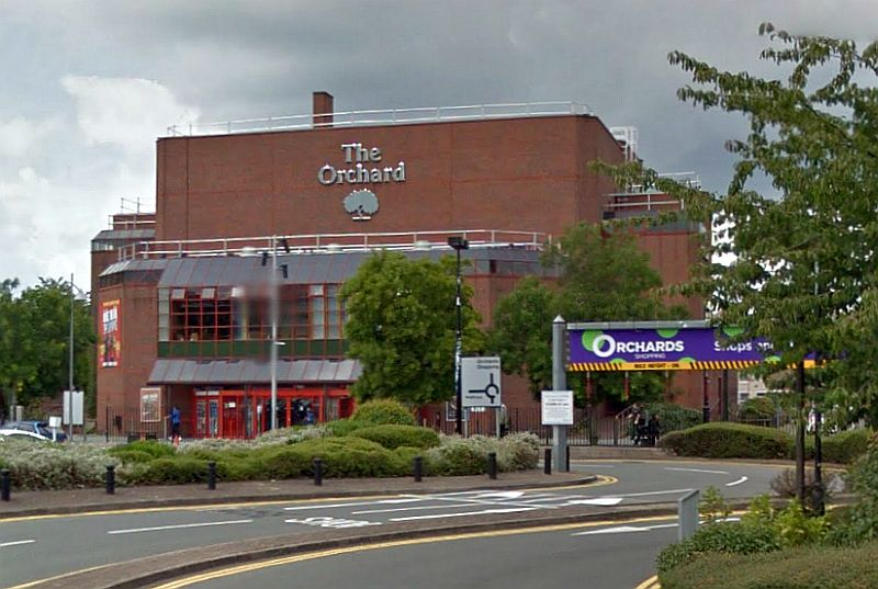 A Google StreetView Image of the Orchard Theatre, Dartford - Click to Interact