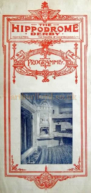 A programme for 'White Birds' which was performed at the Derby Hippodrome in the week of the 20th of February 1928 - Courtesy Roy Cross.