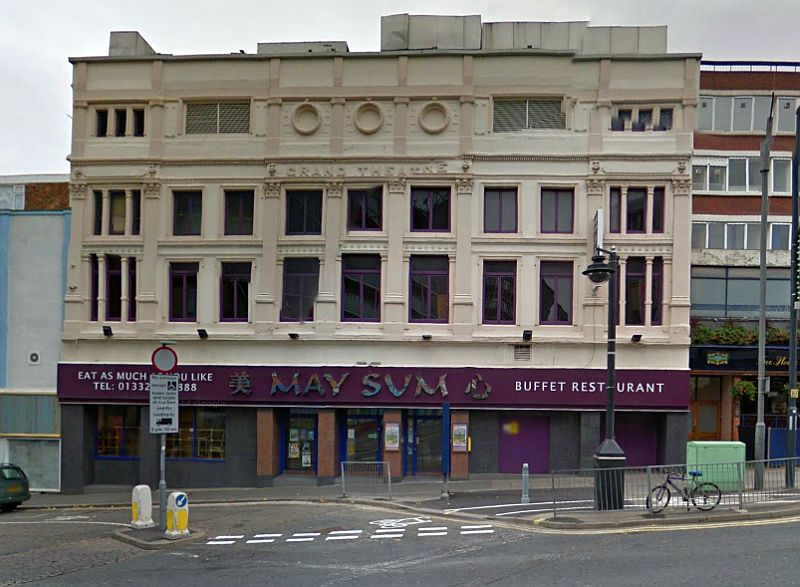 A Google StreetView Image of the former Grand Theatre, Derby - Click to Interact