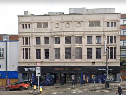 A Google StreetView Image of the former Grand Theatre, Derby - Click to Interact.