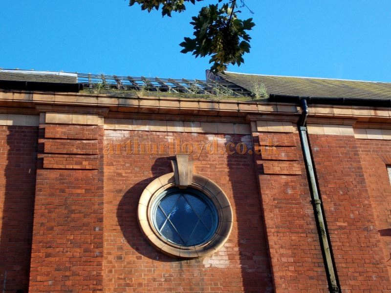 Part of the damaged roof of the Derby Hippodrome in June 2014 - Courtesy Paul Bland.