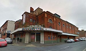 A Google StreetView image of the Derby Hippodrome - Click to Interact.