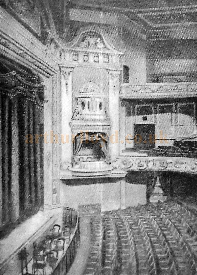 The auditorium of the Derby Hippodrome in the 1920s - From a programme for 'White Birds' which was performed at the Derby Hippodrome in the week of the 20th of February 1928 - Courtesy Roy Cross.