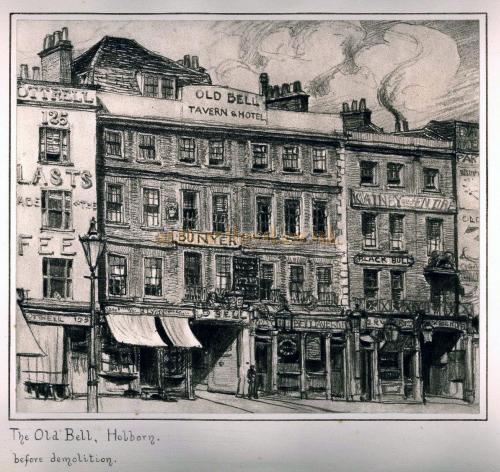 The Old Bell, Holborn before demolition