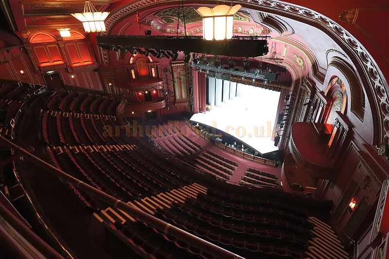 The Auditorium and Stage from the now blocked off Balcony of the Dominion Theatre in August 2017 - Courtesy Christian Clark.