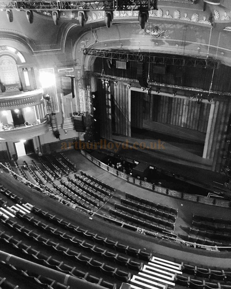 The Auditorium and Stage of the Dominion Theatre in December 2016 - Courtesy Christian Clark