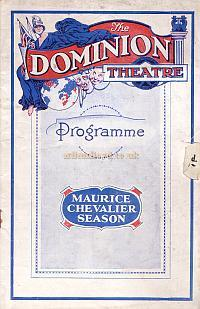 Programme for 'The Maurice Chevalier Season' at the Dominion Theatre Monday December the 1st 1930.
