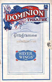 Programme for 'Silver Wings' with Lupino Lane, the second production at the newly opened Dominion Theatre in 1930