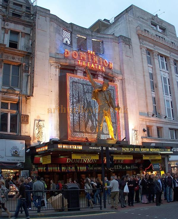 The Dominion Theatre during the run of 'We Will Rock You' in October 2006. - Photo M.L.