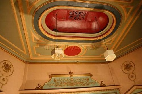 The Auditorium ceiling of the Grand Theatre, Doncaster - Courtesy 'The Friends of the Doncaster Grand'