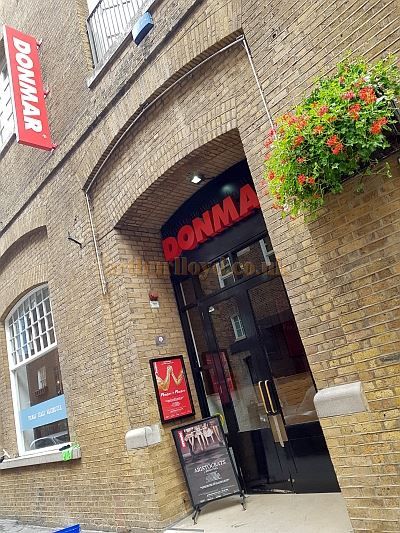 The Main Entrance to the Donmar Warehouse in September 2018.