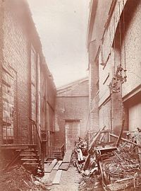 The 1908 Fire damage - Click for more information and images.