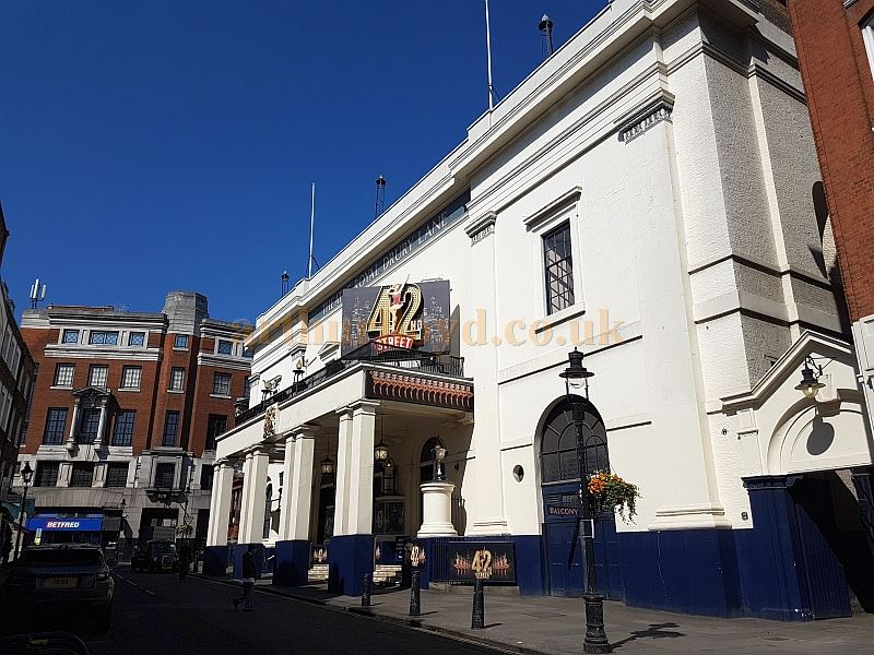 The Theatre Royal, Drury Lane during the run of '42nd Street' in April 2017.