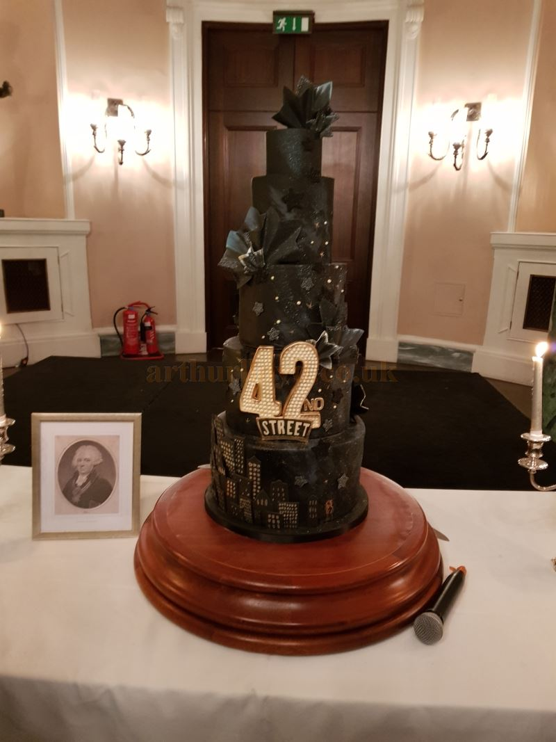 The 42nd Street Baddeley Cake at the Theatre Royal, Drury Lane on the 3rd of January 2019.