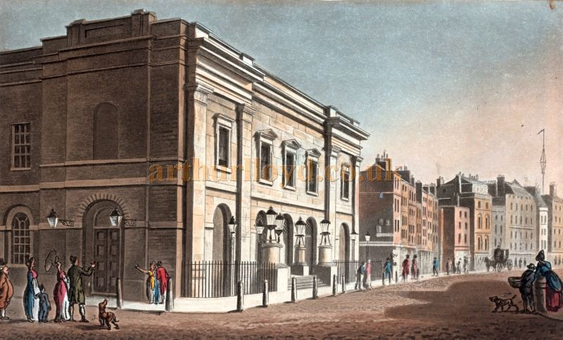 The Fourth and Present Theatre Royal, Drury Lane, shortly after it first opened in 1812 - New York Public Library Digital Collections.