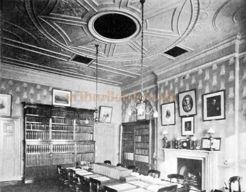 A Room in David Garrick's House - From 'London Town Past and Present' by W. W. Hutchings 1909.
