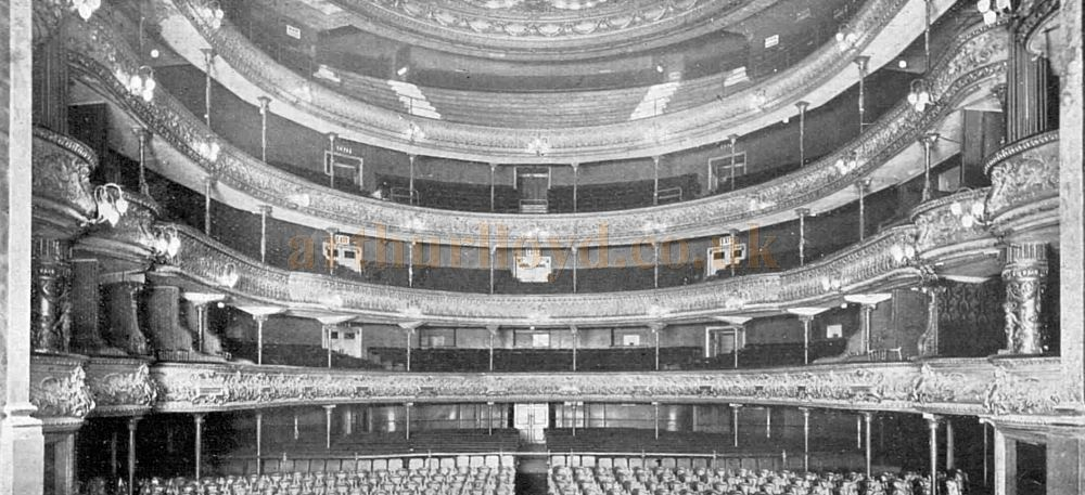Philip Pilditch's 1901 Theatre Royal, Drury Lane Auditorium shortly before its later reconstruction in 1922 - From The Sphere, 29th April 1922.