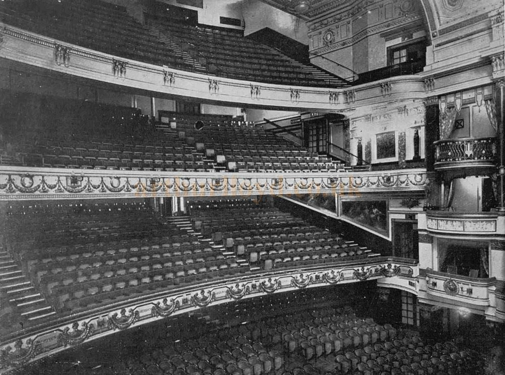 The Reconstructed Auditorium of the Theatre Royal, Drury Lane in 1922 - From The Sphere, April 29th, 1922.
