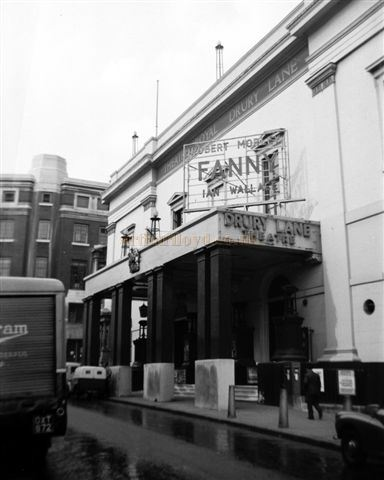 The Theatre Royal, Drury Lane during the run of 'Fanny' in 1958 - Courtesy Gerry Atkins.