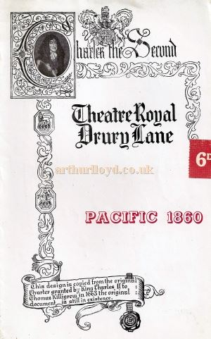 A Programme for Noel Coward's 'Pacific 1860' which reopened the Theatre Royal, Drury Lane after the war on the 19th of December 1946 - Courtesy Michael Jaffé whose grandfather Carl Jaffé performed in the production as Felix Kammer.
