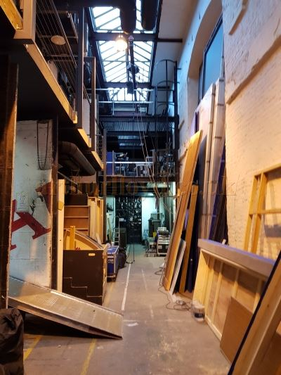 The Cross Dock or 'Run' behind the stage at the Theatre Royal, Drury Lane in September 2018.
