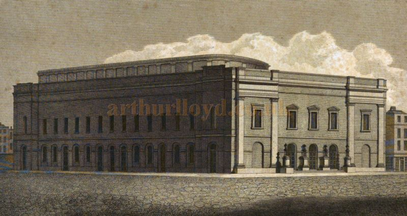 Benjamin Wyatt's Theatre Royal, Drury Lane of 1812 - From 'Observations on the Design for the Theatre Royal, Drury Lane' by Benjamin Wyatt, FSA Architect 1813