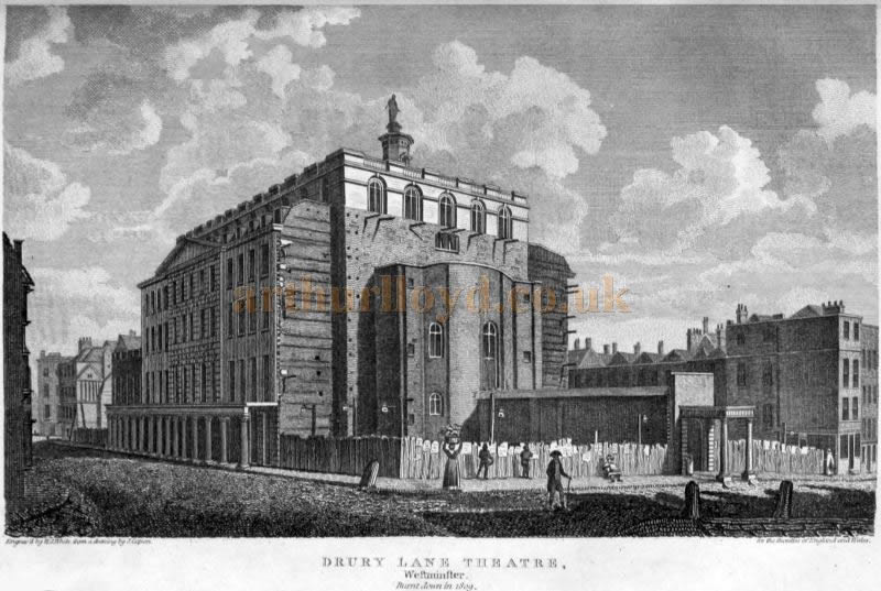 The Third Theatre Royal Drury Lane - From 'London and Middlesex' Volume 3 Part 2 1815