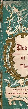 Fragment of a Duke Of York's Theatre programme front for 1902.