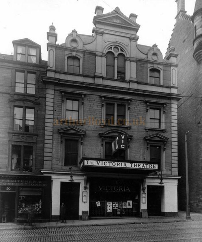 The Victoria Theatre, Dundee formerly the Gaiety Theatre / Victoria Hall - Courtesy Graeme Smith.