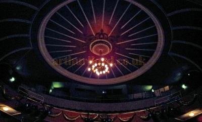 The Auditorium Ceiling of the the Royal Hippodrome Theatre, Eastbourne in September 2013 - Courtesy George Richmond.