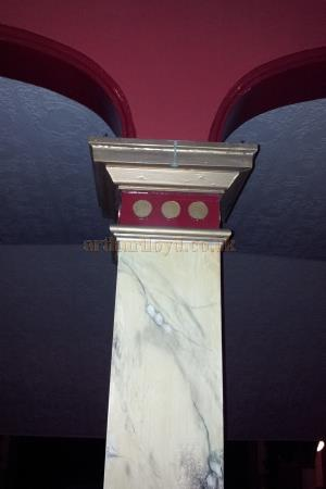 One of the marbled Columns at the Royal Hippodrome Theatre, formerly the Theatre Royal, Eastbourne, in September 2013 - Courtesy George Richmond.