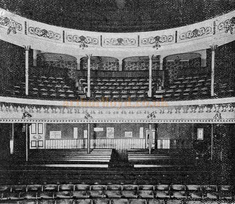 The Auditorium of the Theatre Royal, Eastbourne in 1902 - From 'The Playgoer' 1902 - Courtesy Iain Wotherspoon.