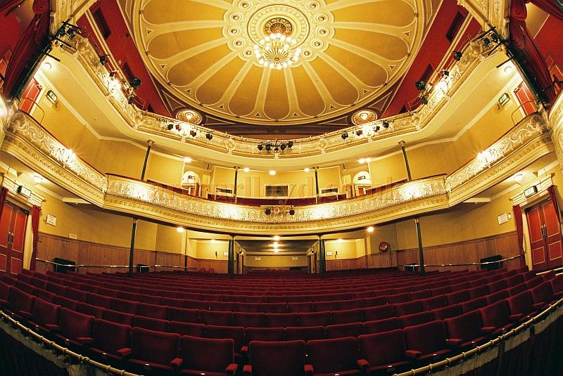 The auditorium of the Devonshire Park Theatre, Eastbourne - With kind permission Justine Cager, Theatres Administrator, Eastbourne Theatres.