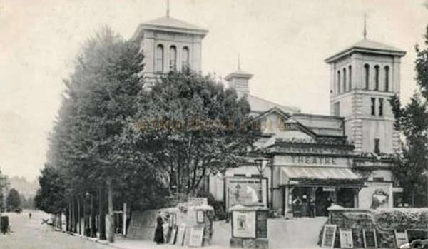 An early 1900s postcard showing the Devonshire Park Theatre, Eastbourne.