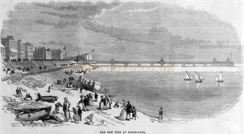 The new Pier at Eastbourne - From the Illustrated London News in June 1870