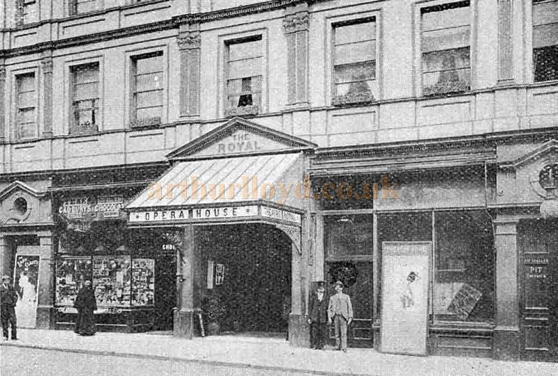 An early photograph of the Theatre Royal and Opera House, Seaside Road, Eastbourne in 1902 - From 'The Playgoer' 1902 - Courtesy Iain Wotherspoon.