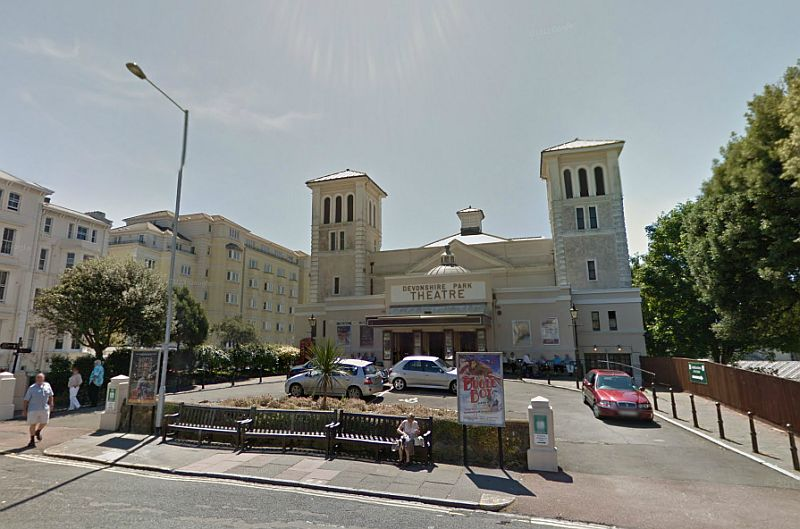 A Google StreetView Image of the Devonshire Park Theatre, Eastbourne - Click to Interact